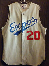 Vintage Montreal Expos P. Martinez Jersey Sz 46 Large Sleeveless Button Up Sewn