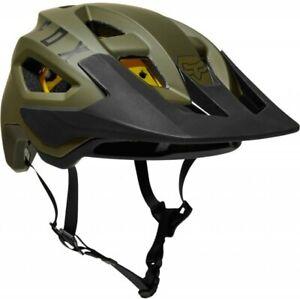Fox Speedframe MIPS Helmet Green/Black - Open Face Mountain Bike Enduro Trail