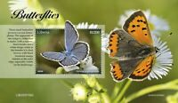 Liberia Butterflies Stamps 2020 MNH Reverdin's Blue Butterfly Insects 1v S/S II