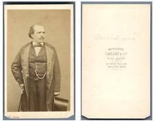 Carjat, Paris, Pierre Jules Michot, Opéra CDV vintage albumen  Tirage albuminé