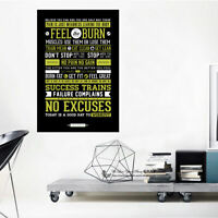 Gym Rules Code Wall Art Quote Stickers Removable Vinyl Decal Home Office Decor