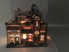 Dept 56 Christmas In City Lighted Building 1997 Riverside Row Shops 58888 Cord