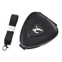 Black PU Leather Guitar Pick Holder Case Key Chain with 20 Guitar Picks