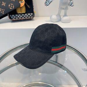 NEW GUCCI HAT Black,CANVAS BASEBALL CAP, SIZE M(ADJUSTABLE)