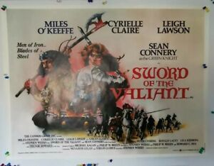 Sword Of The Valiant UK Quad Poster rolled Rare Sean Connery Movie
