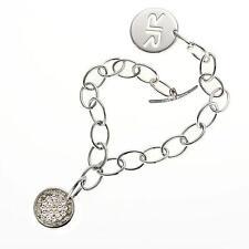New Rebecca Bright Crystal Coin Bracelet