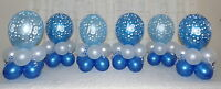 18th BIRTHDAY PARTY - BLUE  BALLOON DISPLAY- TABLE CENTREPIECE - 6 and 12 tables