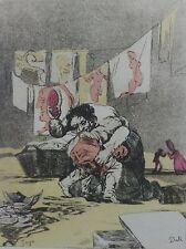 Salvador Dali Goya los Caprichos Se Quebro el Cantero Firmado a Mano Numberd