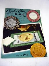 VTG DMC CROCHET CHARM BOOK DOILIES LUNCHEON SETS DINNER CLOTHS BEDSPREADS CLUNY