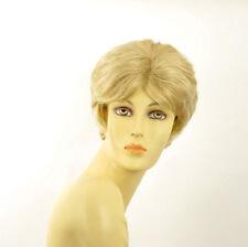 Perruque femme courte blond doré méché blond très clair  VAL 24BT613