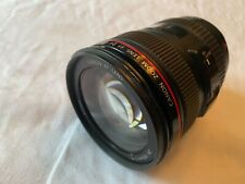 Canon EOS EF 24-105mm F/4 L Is USM Zoom Lens with hood and lens caps - mint cond