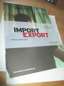 IMPORT EXPORT Pressbook CANNES 2007 handsigned ULRICH SEIDL!