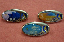 "3 x Ansett Airlines ""Days to Go"" Window Pins Sydney 2000 Olympic Games"