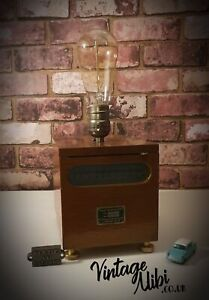 Vintage H.Tinsley Galvanometer Lamp, Up-cycled, With Edison Bulb, Pub Shed