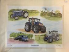 New Holland Ford Tractor Print Painting Farming Sue Podbery Limited Edition
