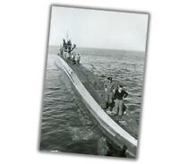 "War Photo August 1940 U-100 U-Boat WW2 Glossy Size ""4 x 6"" inch W"
