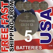 5 Batteries PANASONIC CR2412 for Seiko 8F32A, 8F33A, 8F35A, 8F56A Expire 2027