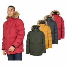 Trespass Baldwin Men Waterproof Parka Jacket with Hood in Black Green & Yellow
