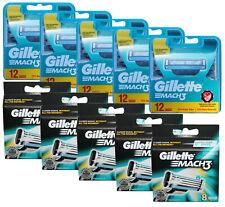 100er Gillette Mach3 Rasierklingen Klingen in 5x 12er + 5x 8er OVP Pack Set