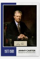 PRESIDENT JIMMY CARTER US POTUS 39 PRESIDENT CUSTOM TRADING CARD SIGNED EDITION
