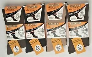 Mens Diabetic Socks Cotton Hand Linked Toe Non Grip Comfort Stay Up No Rings