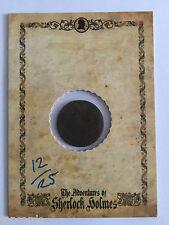 CULT STUFF MEMOIRS OF SHERLOCK HOLMES Artifact Coin Card 12/25