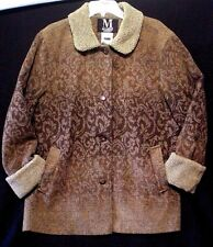 Mulberry Jacket Car Coat Women Sz L Brown Ombre Sherpa Washable Wool Florentine