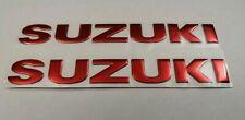 SUZUKI 3D RED BADGE LOGO STICKERS GRAPHICS DECALS SUPERBIKE GSXR GSR BANDIT SV