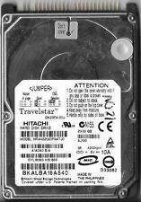 HITACHI TRAVELSTAR HTA422020F9ATJ0  A/A0A0 E/A 20GB ATA/IDE HARD DRIVE