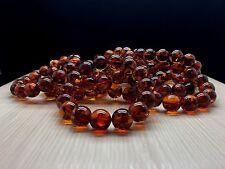 20,6g Natural Baltic Amber Bracelet Cognac Colour Round Beads Hupo-se 琥珀色