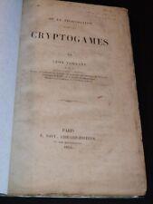 VAILLANT Fécondation Cryptogames BOTANIQUE SCIENCES NATURELLES 2 PLANCHES 1863