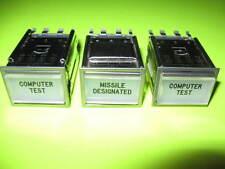 (3) Twist-Lite Master Specialties Series 10 Word Aeronautical Indicator Lights