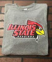 Illinois State Redbirds T-Shirt Gray Men's Size 2XL