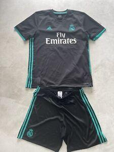 Adidas Original Real Madrid Trikot & Short Schwarz Türkis Gr. L