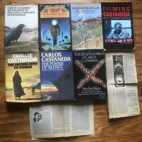 7 Carlos Castaneda Don Juan Book + Newspaper Alchemy occult esoteric HC