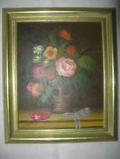 Ölgemälde Blumen, signiert, gut gerahmt, 32  x 27 cm.