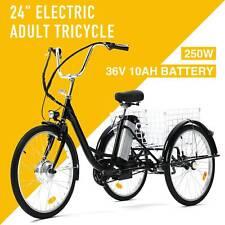 "24"" Adult Three-Wheeled Electric Bicycle w/Basket"