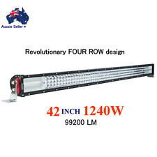 42 INCH 1240W Cree LED WORK LIGHT BAR FLOOD SPOT OFFROAD DRIVING UTE 4X4