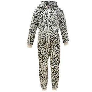 Kids Boys Girl Soft Fluffy Animal Leopard Snow A2Z Onesie One Piece Xmas Costume