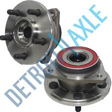 Both (2) New Front Wheel Hub And Bearings for Jeep Cherokee TJ Wrangler - 5 Lug