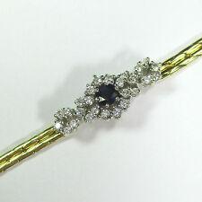1301 - Elegantes Armband Gold 585 gelb/weiß - Saphir - Brillanten --- 1879