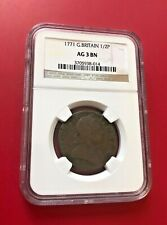 Great Britain 1771 1/2 Penny NGC AG 3 BN