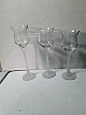PartyLite Iced Crystal Trio Votive Candle Holders, Frosted Stem