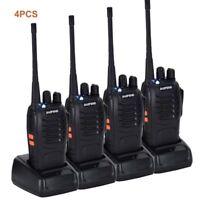 4x Baofeng BF-888S UHF 400-470MHz 5W Two-Way Ham Radio 16CH Walkie Talkie DCS