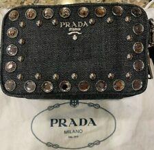 Authentic PRADA Bijou Denim Leather