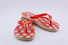 Tory Burch shoes sandals flip flops fire orange darby combo