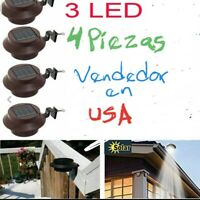 4pc Luces Solar LED Para El Jardin Yarda Pared Patio Cargan Con El Sol  Lamparas