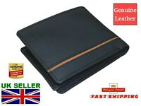 New 2020 MEN's Quality Leather Flip Wallet Black Six Credit Cards Cash Coin ID