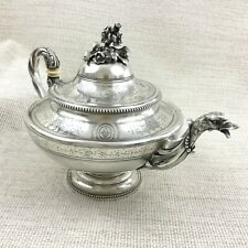 More details for christofle silver plate teapot antique french empire napoleon iii duck spout