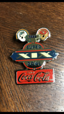 1985 Coca-Cola Super Bowl XIX Hat Pin Miami Dolphins vs San Francisco 49ers